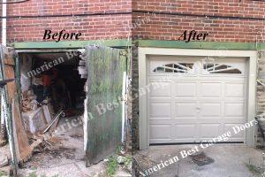 ABGD Before & After Garage Door Installation