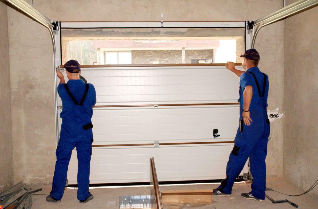 Media garage door install